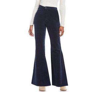 Chelsea & Violet Dark Blue Flare Corduroy Pant